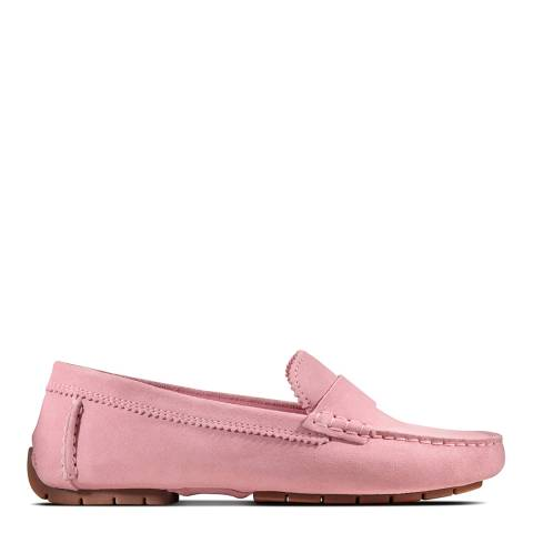 Clarks Pink Suede CC Moccasin Shoes