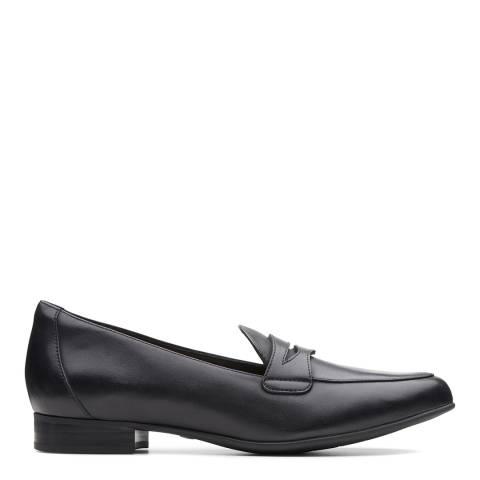 Clarks Black Leather Un Blush Go Loafers