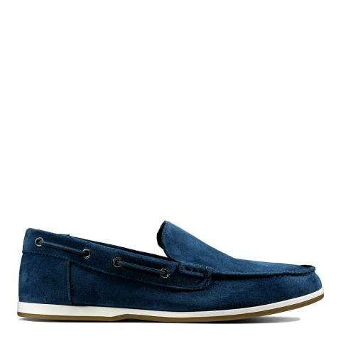 Clarks Navy Suede Morven Sun Boat Shoes