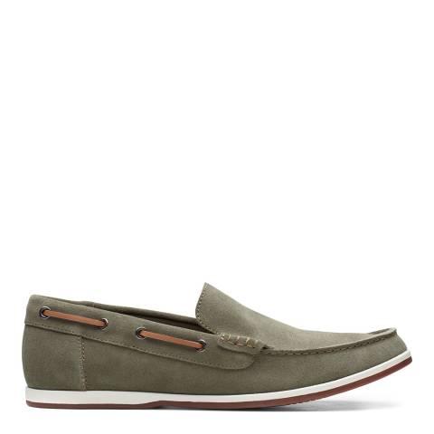 Clarks Green Suede Morven Sun Boat Shoes