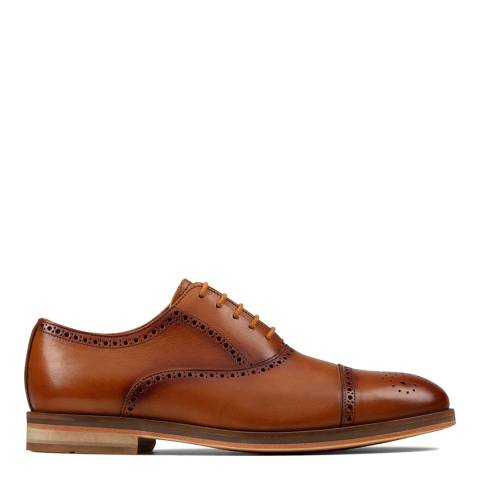 Clarks Tan Leather Oliver Limit Brogue Shoes