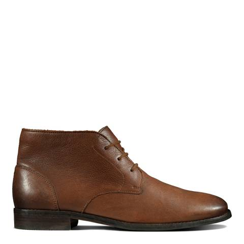 Clarks Tan Leather Flow Top Chukka Boots