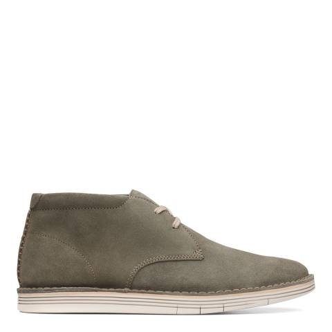 Clarks Green Suede Forge Stride Chukka Boots