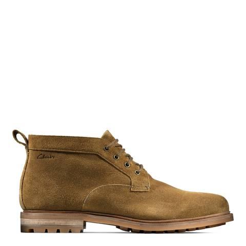 Clarks Dark Sand Foxwell Mid Boots