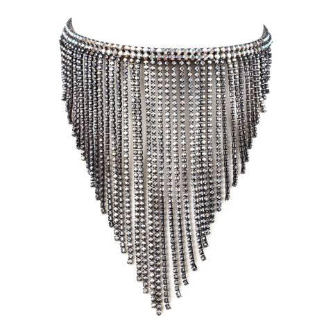 Amrita Singh Gunmetal/AB Choker Necklace