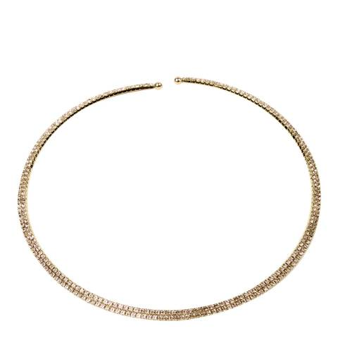Amrita Singh Gold/Clear Embellished Choker Necklace