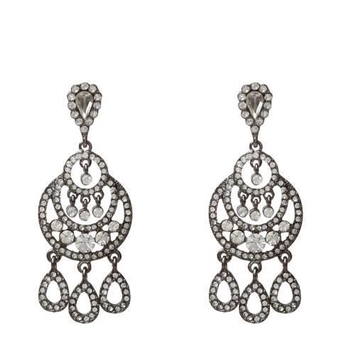 Amrita Singh Gunmetal Teardrop Earrings