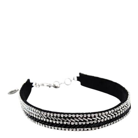 Amrita Singh Black/Clear Embellished Choker Necklace