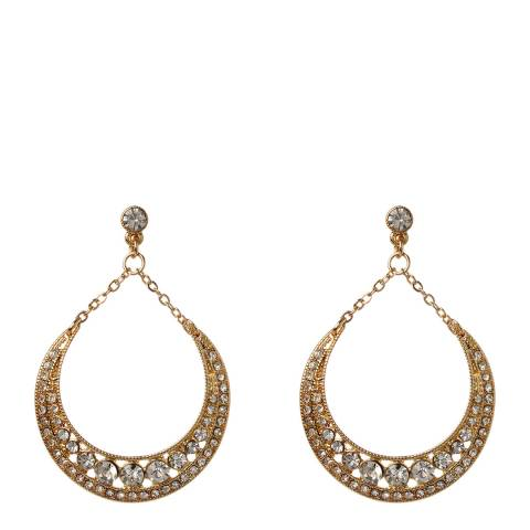 Amrita Singh Gold/Clear Teardrop Earrings