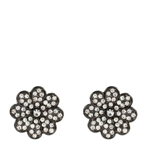 Amrita Singh Gunmetal/Clear Pearl Stud Earrings