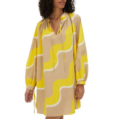 Chinti and Parker Biscotti Drawstring Cotton Dress