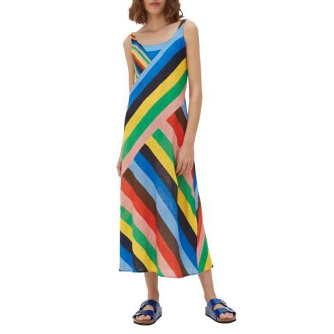 Chinti and Parker Multi Panelled Ribbon Print Dress