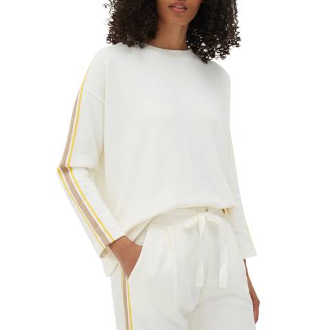 Chinti and Parker Off White Open Back Cotton Jumper