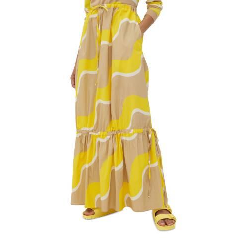 Chinti and Parker Biscotti/Prima Vera Wave Drawstring Skirt
