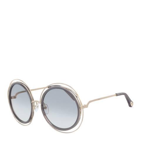 Chloe Women's Gold/Blue Chloe Sunglasses 58mm
