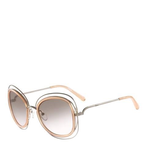Chloe Women's Silver/Peach Chloe Sunglasses 56mm