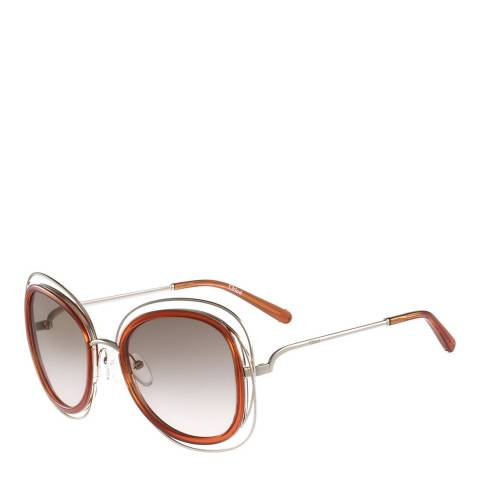 Chloe Women's Silver/Brown Chloe Sunglasses 56mm