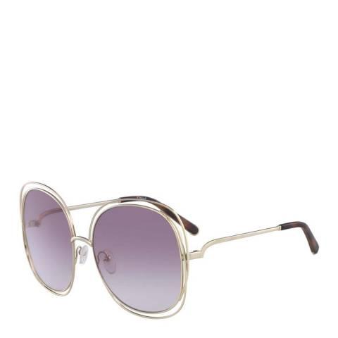 Chloe Women's Gold/Purple Chloe Sunglasses 62mm