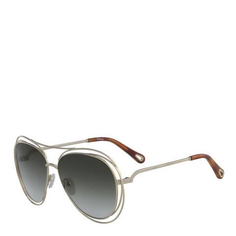 Chloe Women's Silver/Grey Chloe Sunglasses 61mm