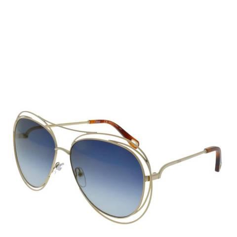 Chloe Women's Gold/Blue Chloe Sunglasses 61mm