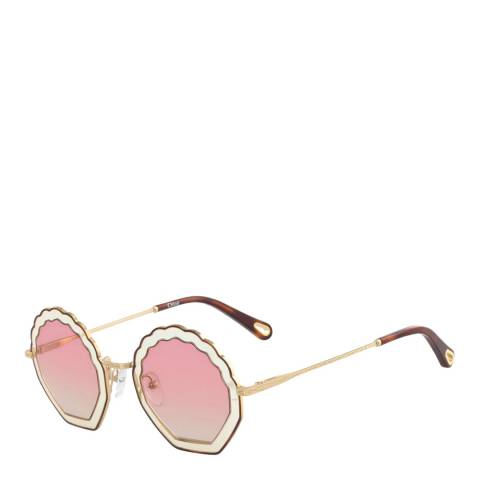Chloe Women's Pink/Gold Chloe Sunglasses 56mm