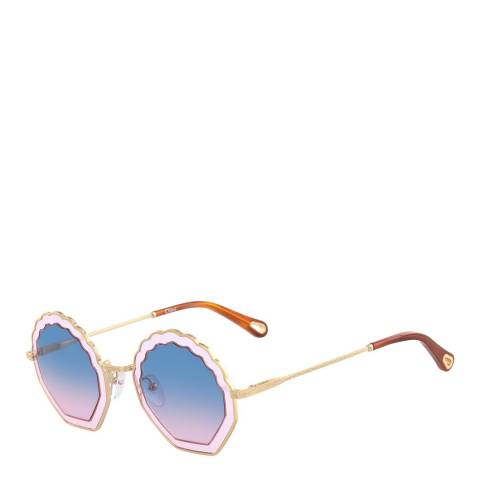Chloe Women's Blue/Pink Chloe Sunglasses 56mm