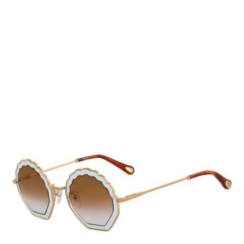 Chloe Women's Gold/Brown Chloe Sunglasses 56mm