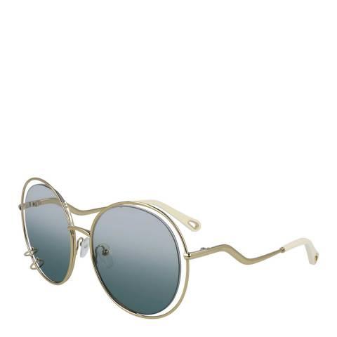 Chloe Women's Gold/Blue Chloe Sunglasses 59mm