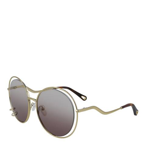 Chloe Women's Gold/Grey Chloe Sunglasses 59mm
