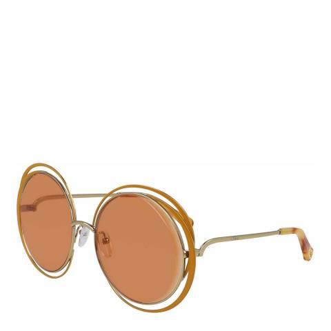 Chloe Women's Orange/Gold Chloe Sunglasses 59mm