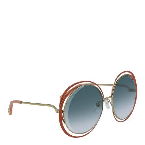 Chloe Women's Blue/Gold Chloe Sunglasses 59mm
