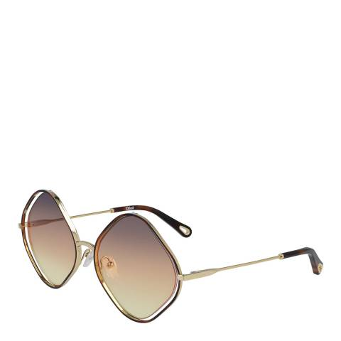 Chloe Women's Brown/Gold Chloe Sunglasses 57mm