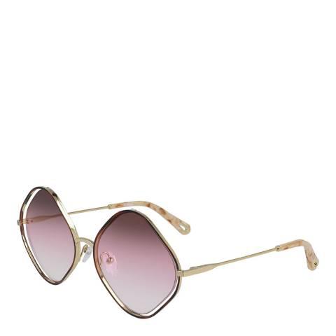 Chloe Women's Pink/Gold Chloe Sunglasses 57mm