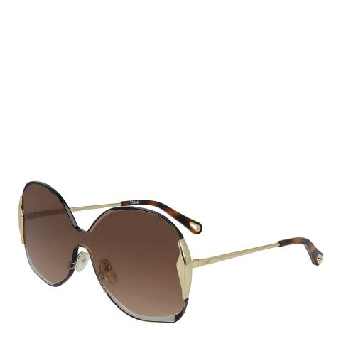 Chloe Women's Brown/Gold Chloe Sunglasses 59mm