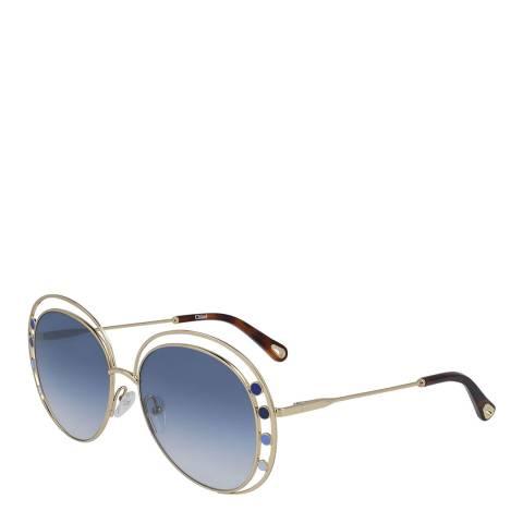 Chloe Women's Blue/Gold Chloe Sunglasses 57mm