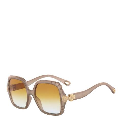 Chloe Women's Grey/Gold Chloe Sunglasses 55mm