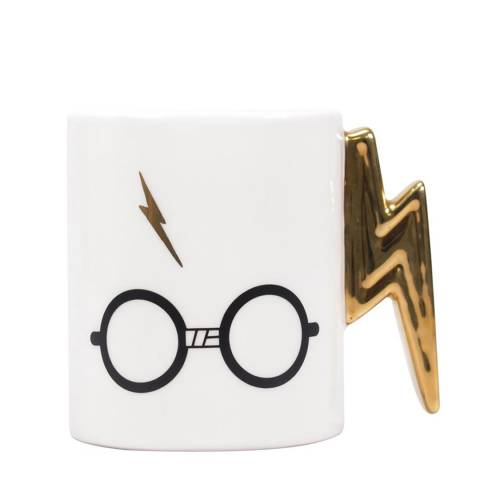 Harry Potter White Lightning Bolt Mug