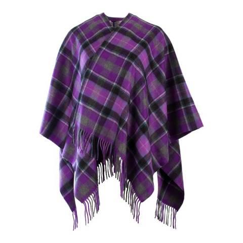 Edinburgh Cashmere Purple Grey Bruce Cashmere Mini Cape