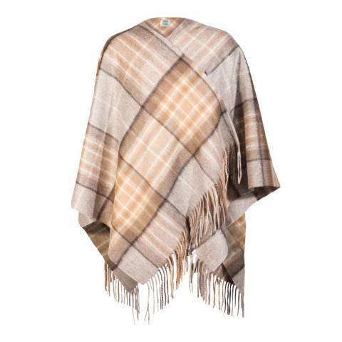 Edinburgh Cashmere Mackellar Natural Cashmere Mini Cape