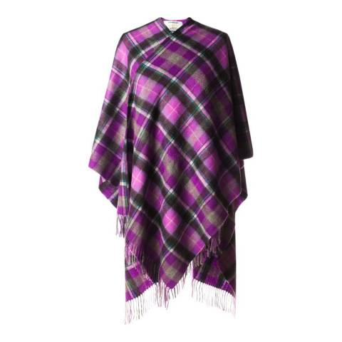 Edinburgh Cashmere Bruce Purple Grey Cashmere Cape