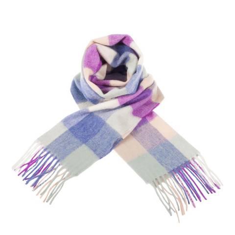 Edinburgh Cashmere Purple Pink 5 Square Tartan Cashmere Scarf