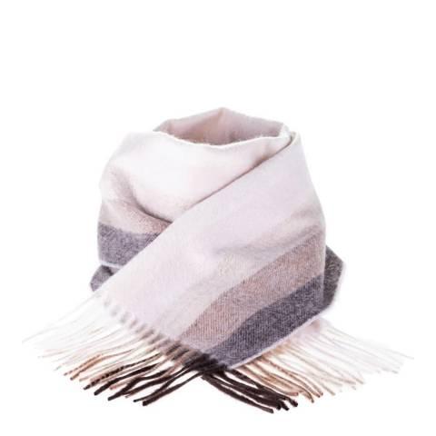 Edinburgh Cashmere Natural Graded Stripe Cashmere Scarf