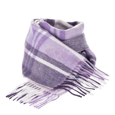 Edinburgh Cashmere Purple JK Check Cashmere Scarf