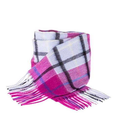 Edinburgh Cashmere Light Blue Check Cashmere Scarf