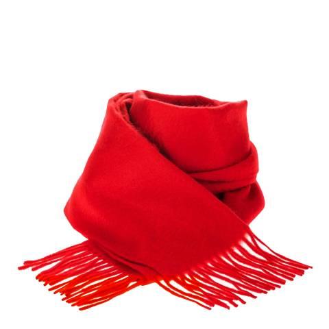 Edinburgh Cashmere Red Rouge Cashmere Scarf