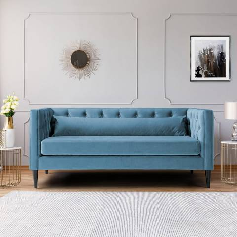 The Great Sofa Company Savoy Two Seater Velvet Peacock