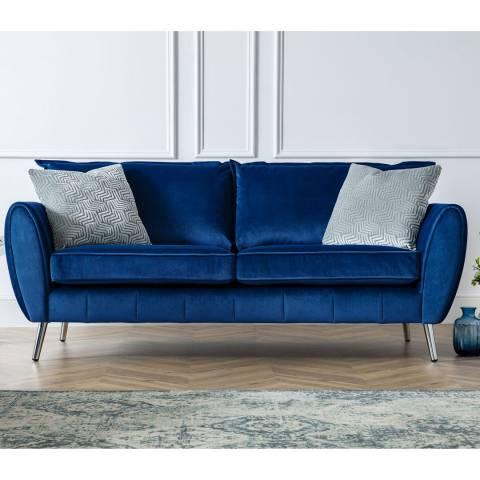 The Great Sofa Company Navy Milano 3 Seater Sofa
