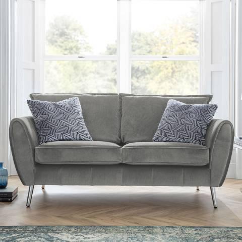 The Great Sofa Company Grey Milano 2 Seater Sofa