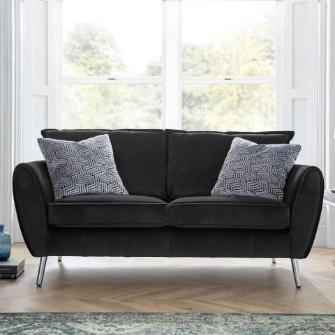 The Great Sofa Company Black Milano 2 Seater Sofa
