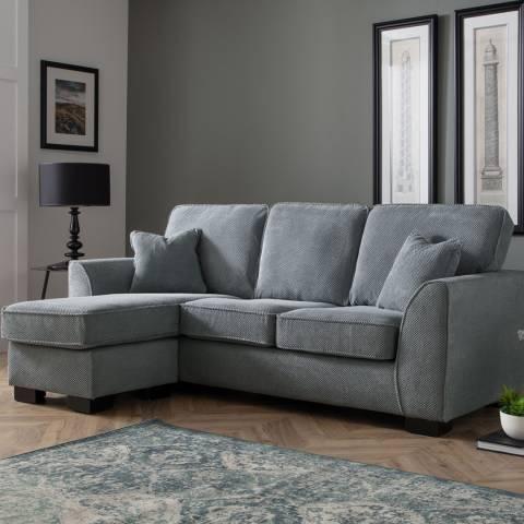 The Great Sofa Company Dallas Corner Chaise Sofa Dot Charcoal